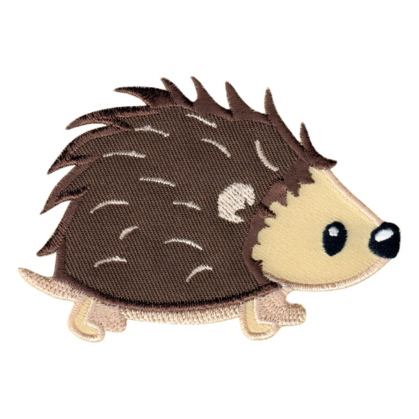 Hedgehog Iron-On Embroidered Appliqué Patch for Kids