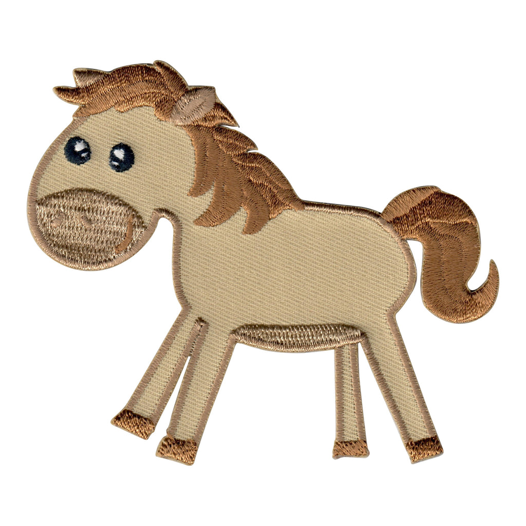 Horse Iron On Patch and  Embroidered Sew On Appliqué for Kids