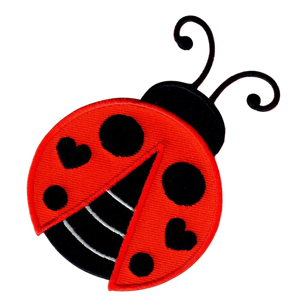 Ladybug Iron On Patch and Embroidered Sew On Appliqué for Kids