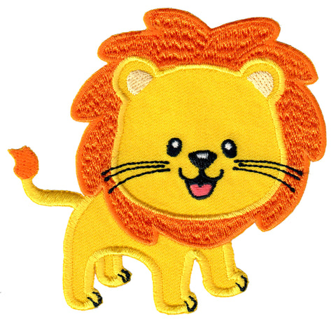 Lion Iron On Patch and Embroidered Sew On Applique for kids