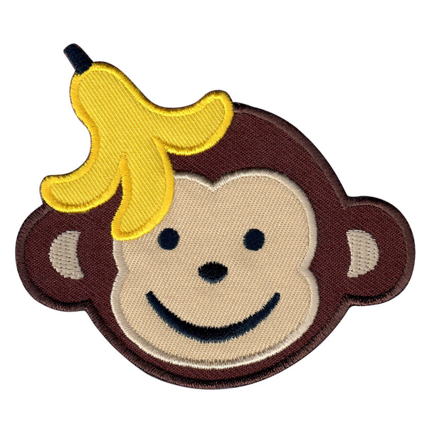 Boy Monkey Iron-On Patch and embroidered sew on applique for kids