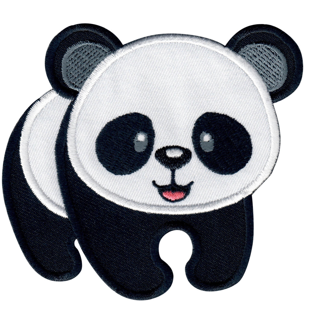 Panda Iron On Patch and Embroidered Sew On Applique for Kids