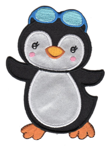 Penguin Iron-On Patch and Embroidered Sew On Appliqué for Kids