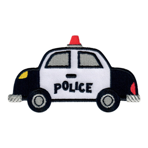 Police Car Iron On Patch and Embroidered Sew On Applique for kids