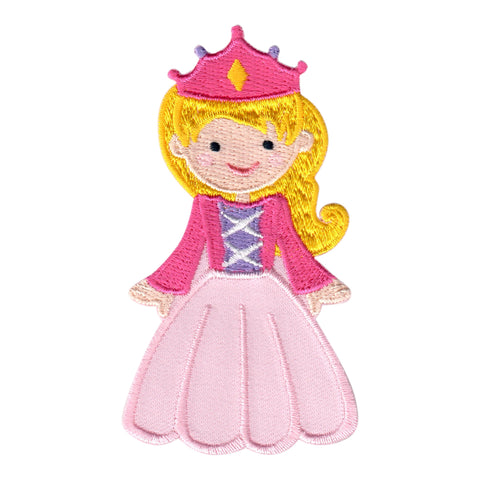 Princess Iron On Patch - Embroidered Sew On Applique for kids
