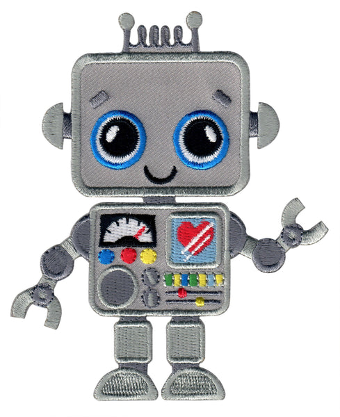 Robot Iron On Patch for Kids Children Sew On Applique