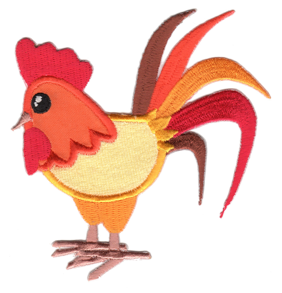 Rooster Iron-On Embroidered Appliqué Patch for Kids