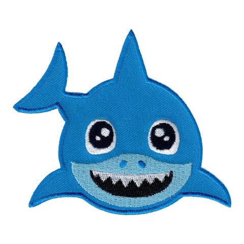 Shark Iron On Patch Embroidered Sew On Applique for Kids Baby