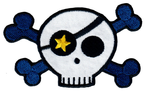 Skull and Bones Iron On Patch for Kids Children Sew On Applique