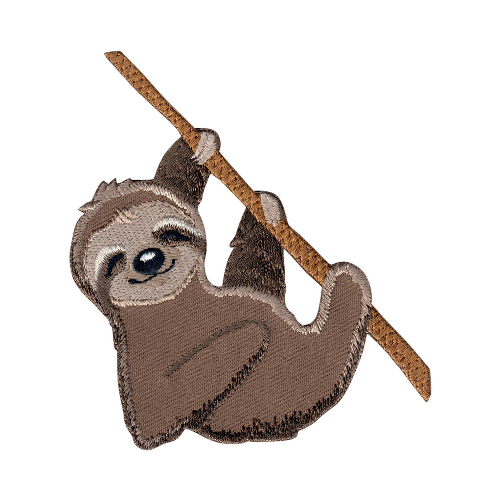 Sloth iron on patch embroidered appliqué