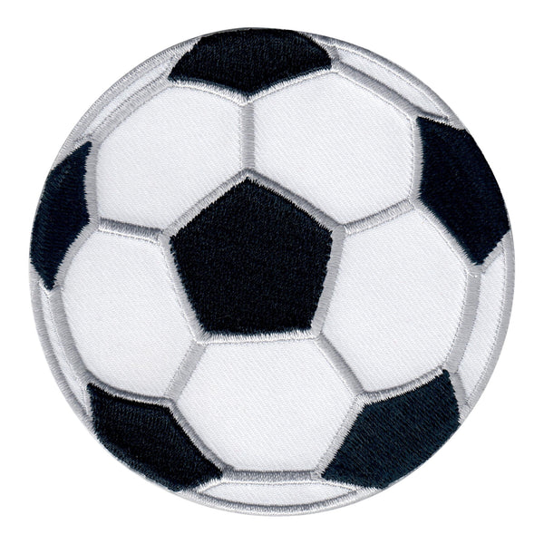 Soccer Ball Iron-On Patch- Embroidered Sew On Appliqué  for Kids