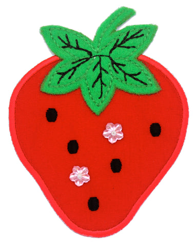 Strawberry Iron-On Embroidered Appliqué Patch for Kids