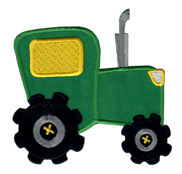 Tractor Iron-On Embroidered Appliqué Patch for Kids