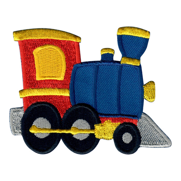 Train Iron On Patch and Embroidered Sew On Appliqué for Kids