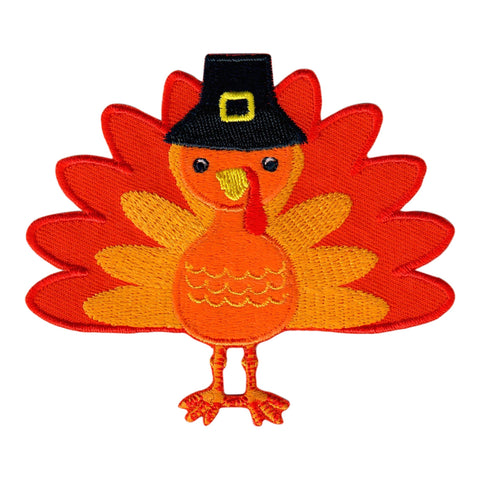 Thanksgiving Turkey Iron-On Embroidered Appliqué Patch for Kids
