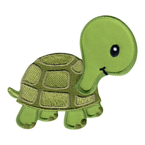 Turtle Iron-On Patch and Embroidered Sew On Applique for Kids Clothing