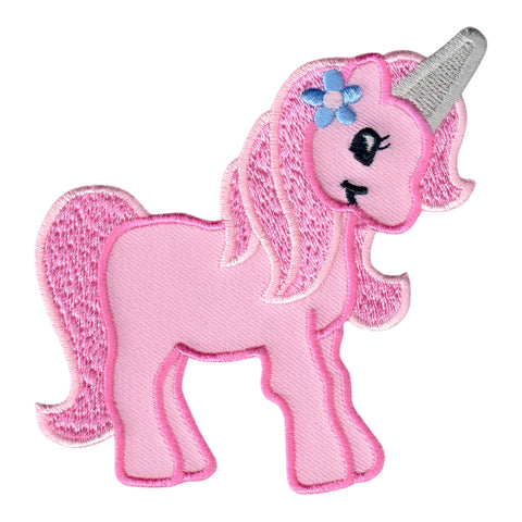 Unicorn Iron On Patch fand Embroidered Sew On Applique for kids clothing