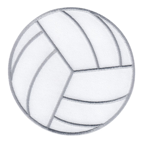 Volleyball Ball Iron-On Patch - Embroidered Appliqué for Kids