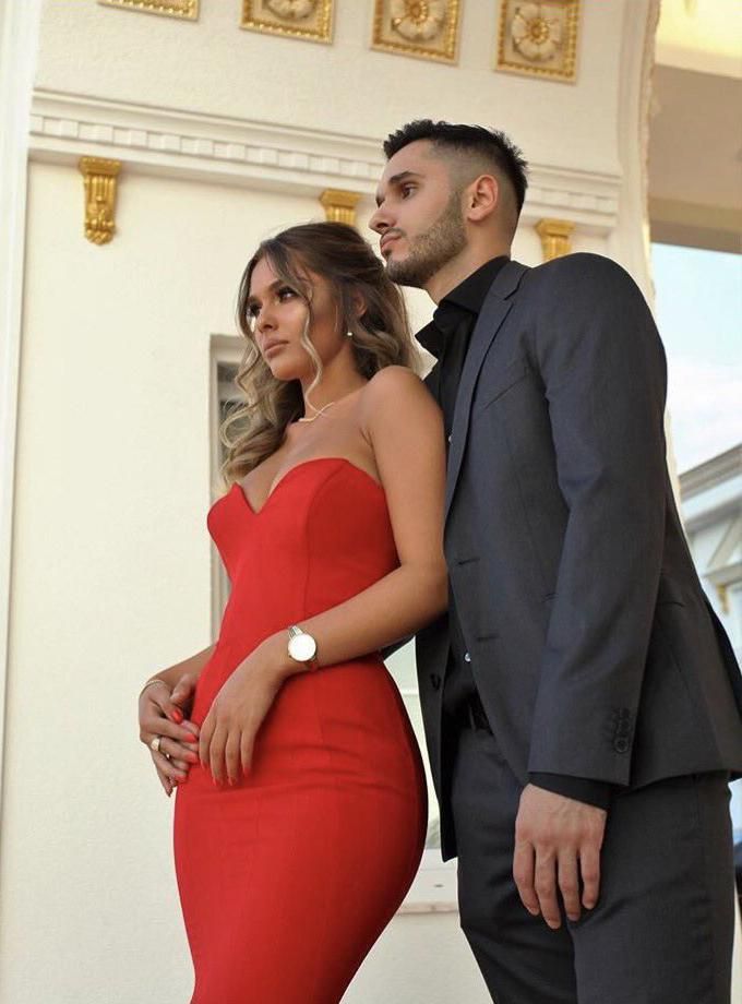 cfe29172fe6 2019 Gorgeous Red Chic Sweetheart Mermaid Trumpet Satin Prom Dresses ...