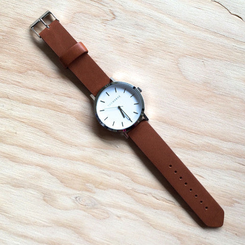 THE HORSE Original STEEL w TAN LEATHER WATCH