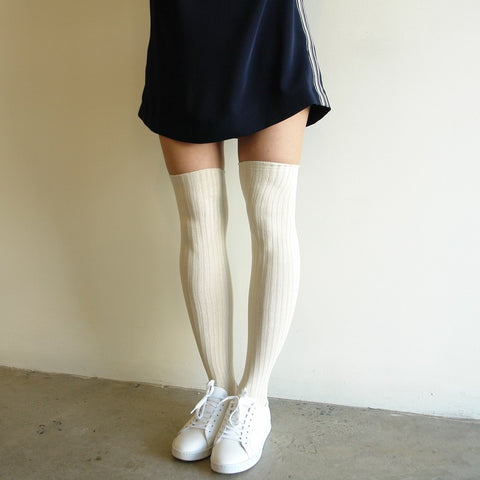 Base Range Silk Over The Knee Socks