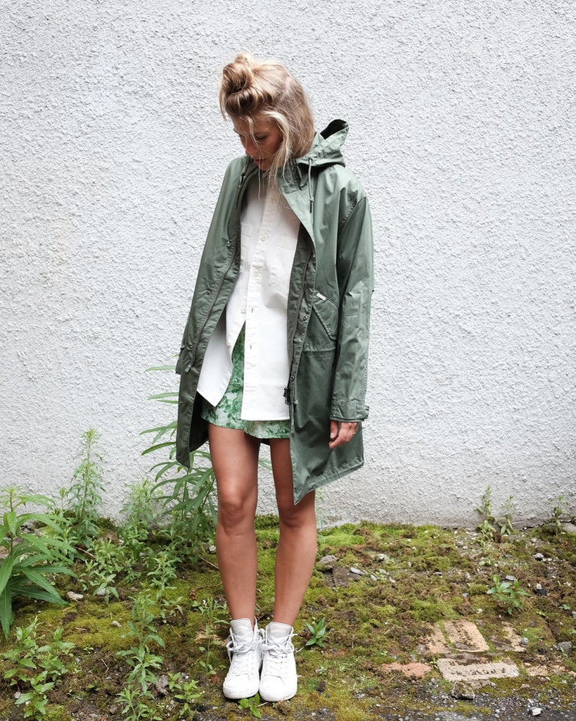 Addison Parka, Cotton Dollar Green