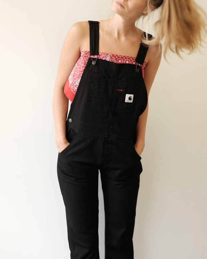 Bib Overall, Black Rinsed
