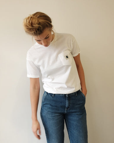 Carrie Pocket Tee, White