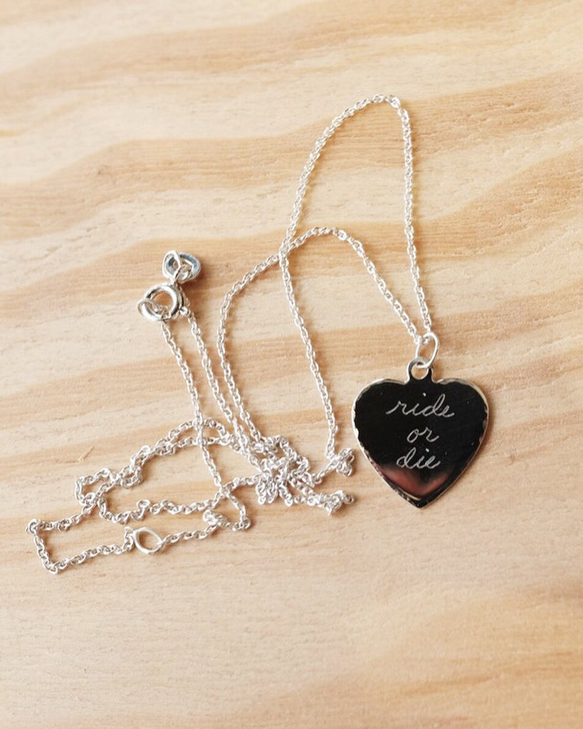 Ride or Die Necklace, Sweet Nothing, Sterling Silver