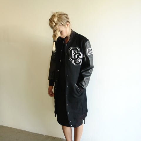 Opening Ceremony Long Varsity Jacket
