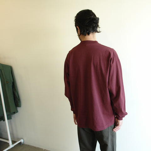 OAK Long Sleeve Mock Neck Tee, Plum