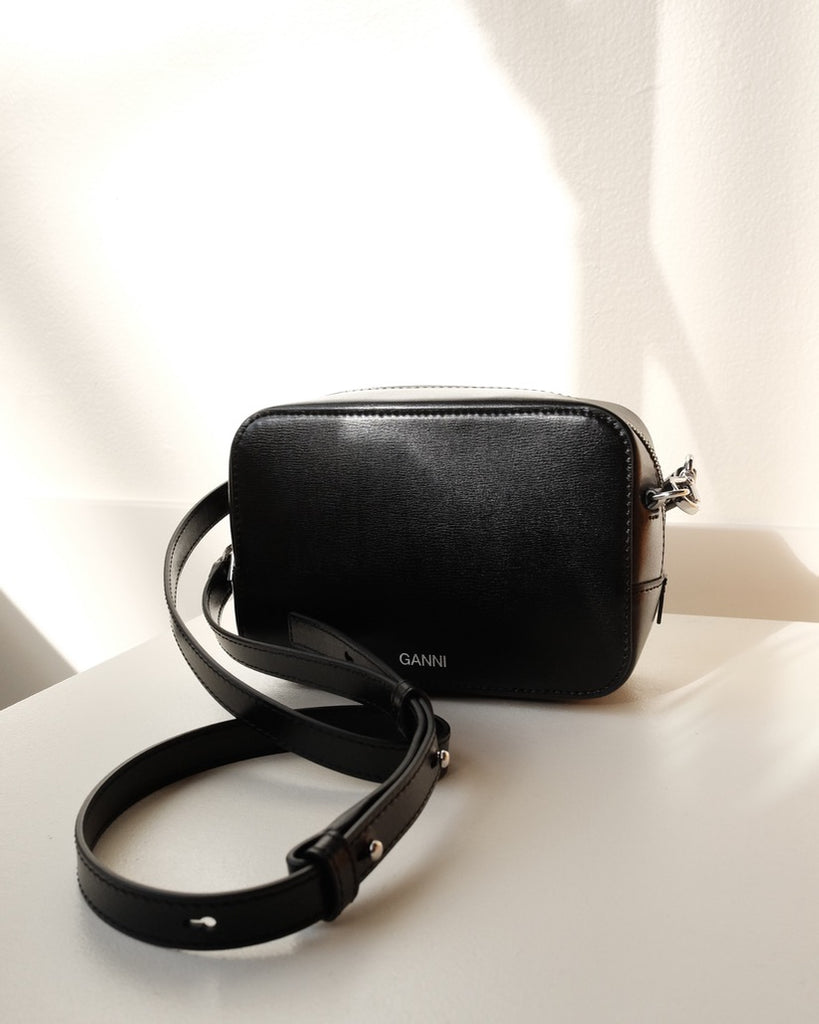 Ganni Leather Crossbody Purse