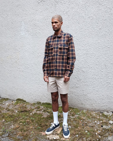 Franco Shirt, Blue Brown Check