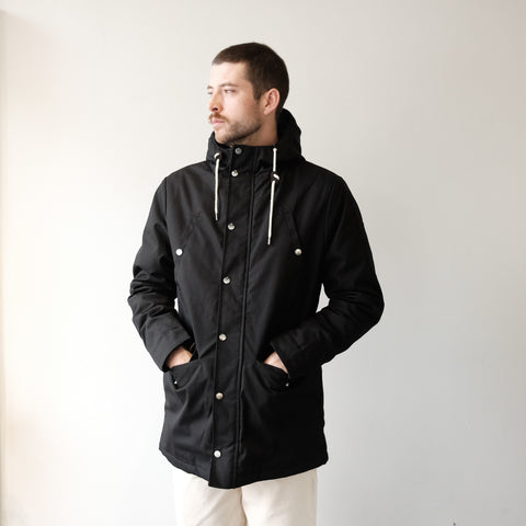 Leif Black Duffle Coat