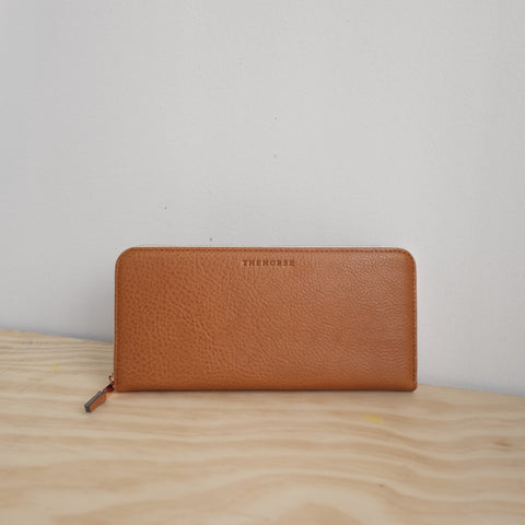 The Horse Slimline Wallet, Tan Pebble