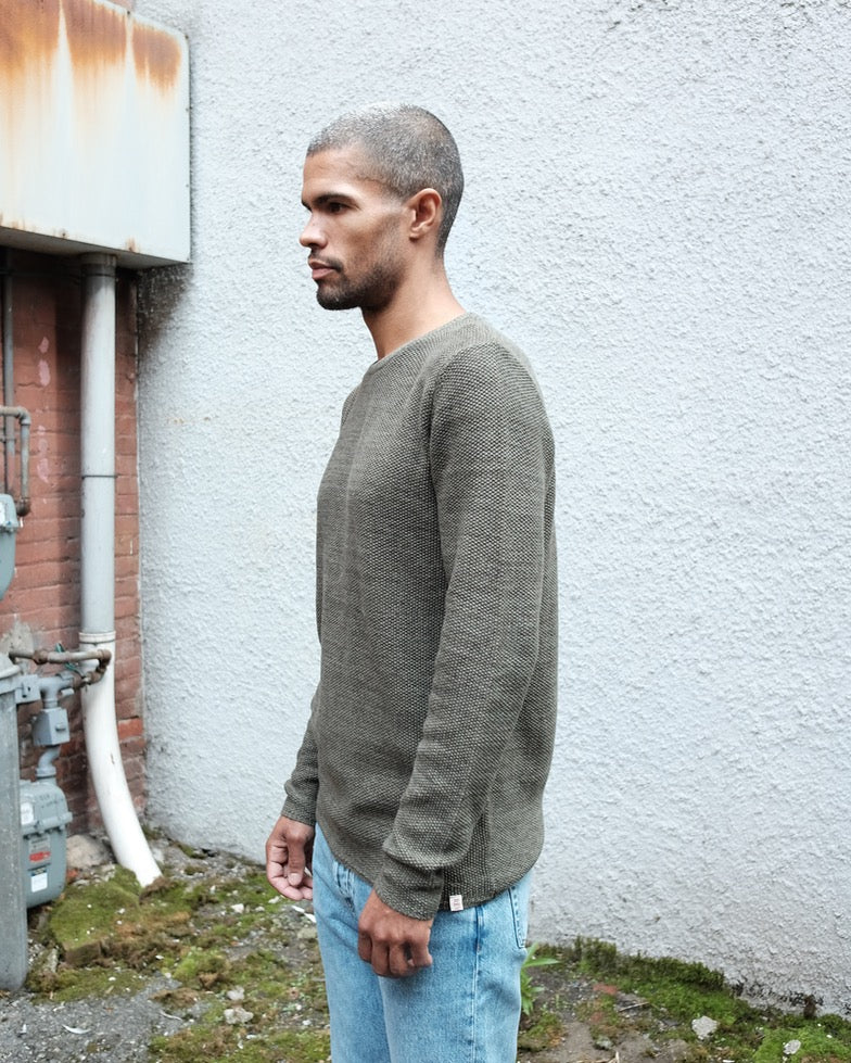 Crewneck Sweater, Army Green