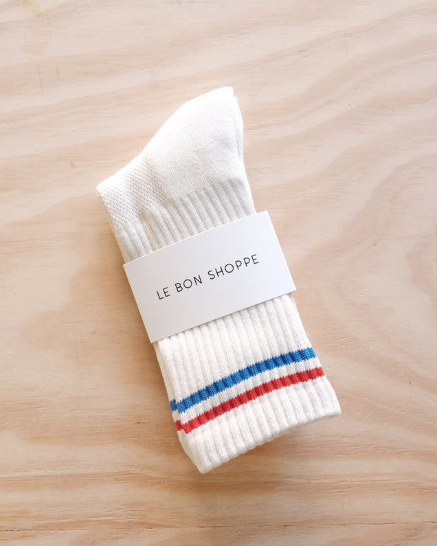 Boyfriend Socks, White