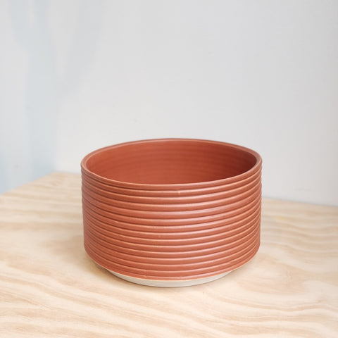 Ribbed Planter, Brick