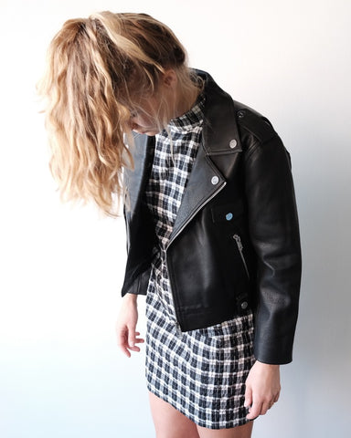Biker Jacket, Black Leather