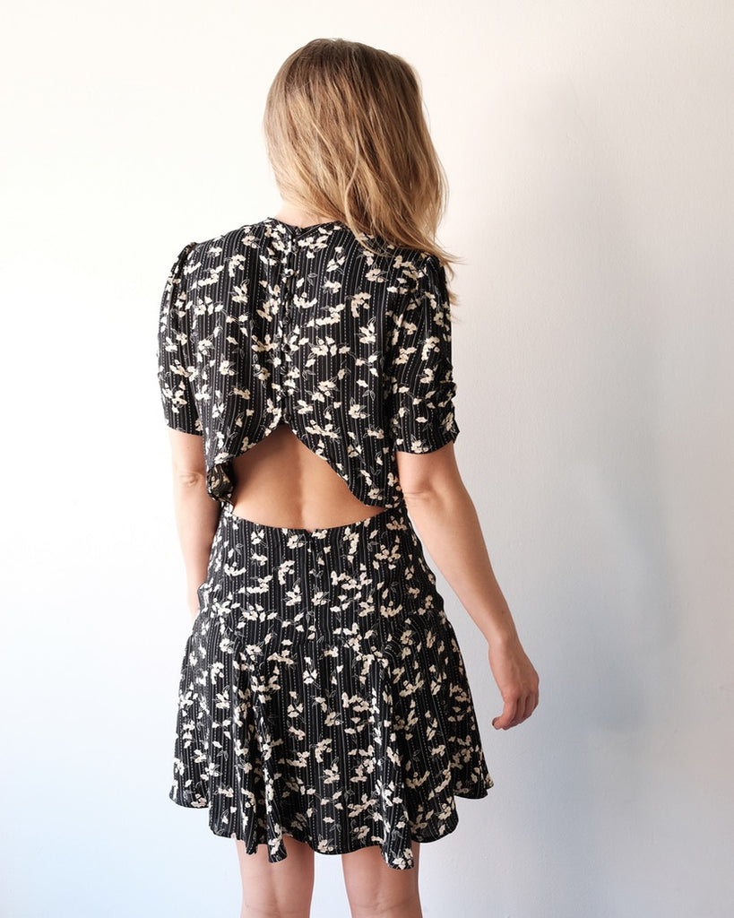 O Kee Dress, Black Print