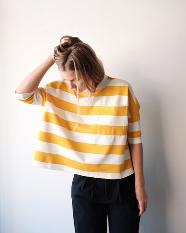 Winston Tee, Yellow Stripes