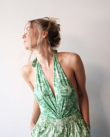 Twist Swimsuit, Island Green