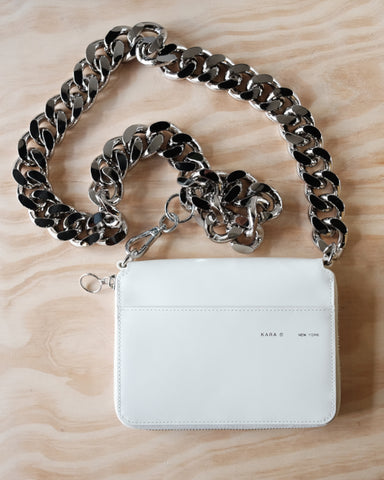 White Large Bike Wallet