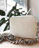 Chain Camera Bag, White