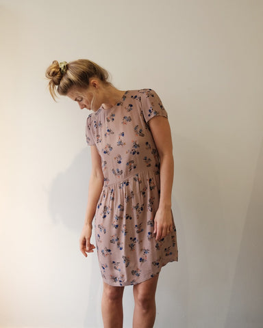 Wax Koko Dress, Egret Floral
