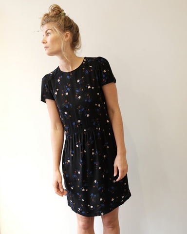 Wax Koko Dress, Black Floral