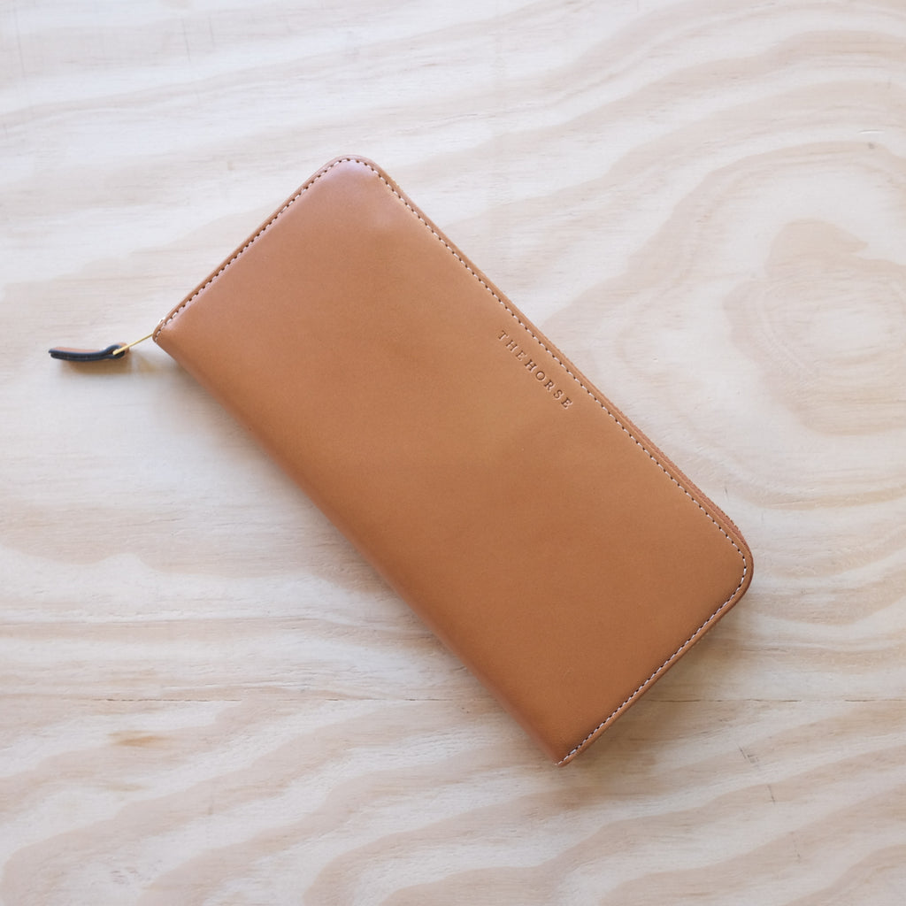 The Horse Slimline Wallet, Tan Smooth