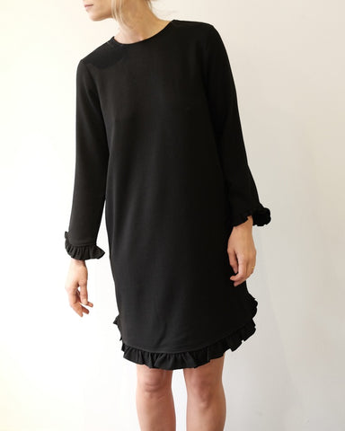 Crepe Dress, Black
