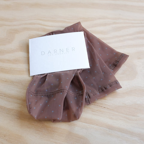 Darner Socks, Caramel with Dots