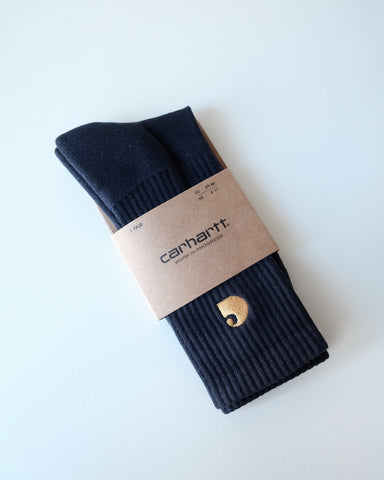 Carhartt Wip Socks, Navy/Gold